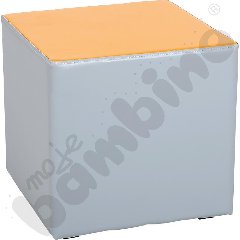 Siedzisko piankowe małe, szaro-pomarańczowe