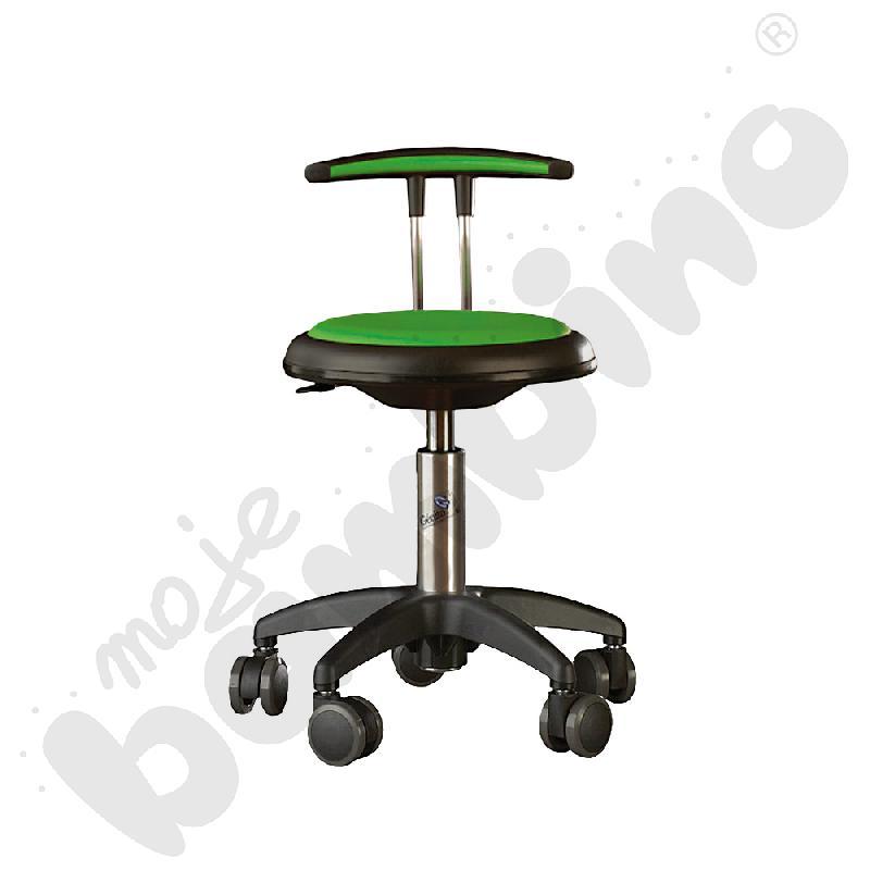 Krzesło Genito z oparciem, wys. 38-48 cm - limonkowe