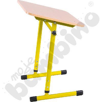 Stabilny stół pochylny 1-os. T 3-4 żółty