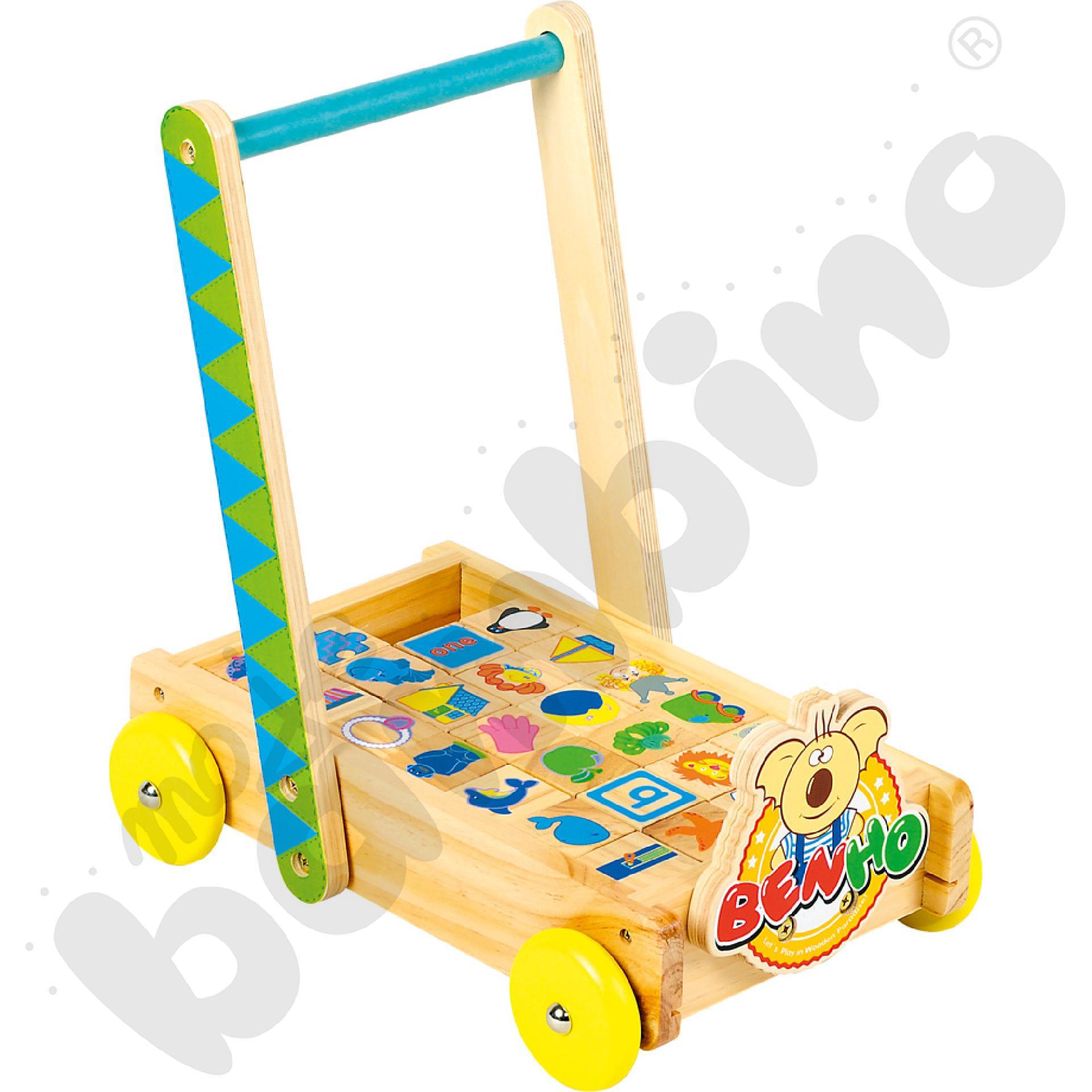 Wózek z klockami ABC