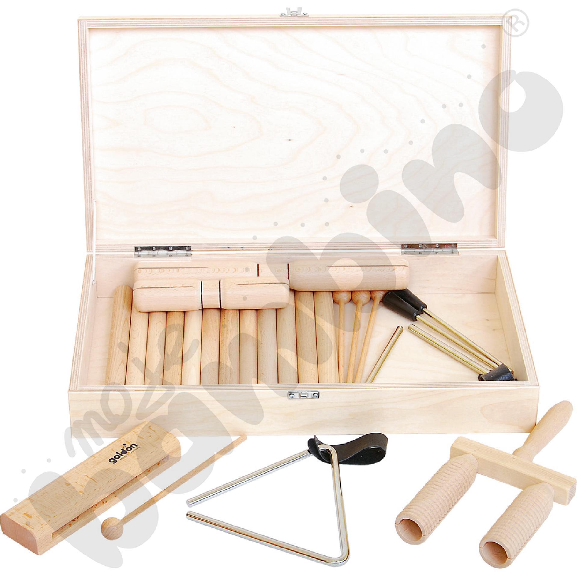 Zestaw w drewnianej walizceaaa