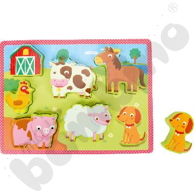 Drewniane puzzle Farma