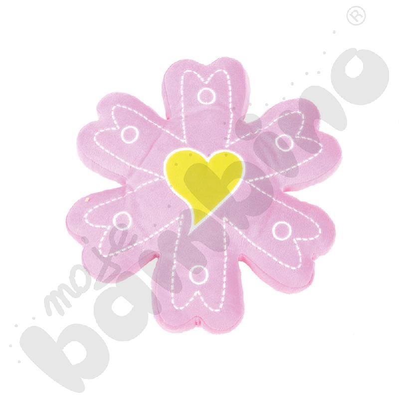 Poduszka FLAT kwiatek jasny różowy