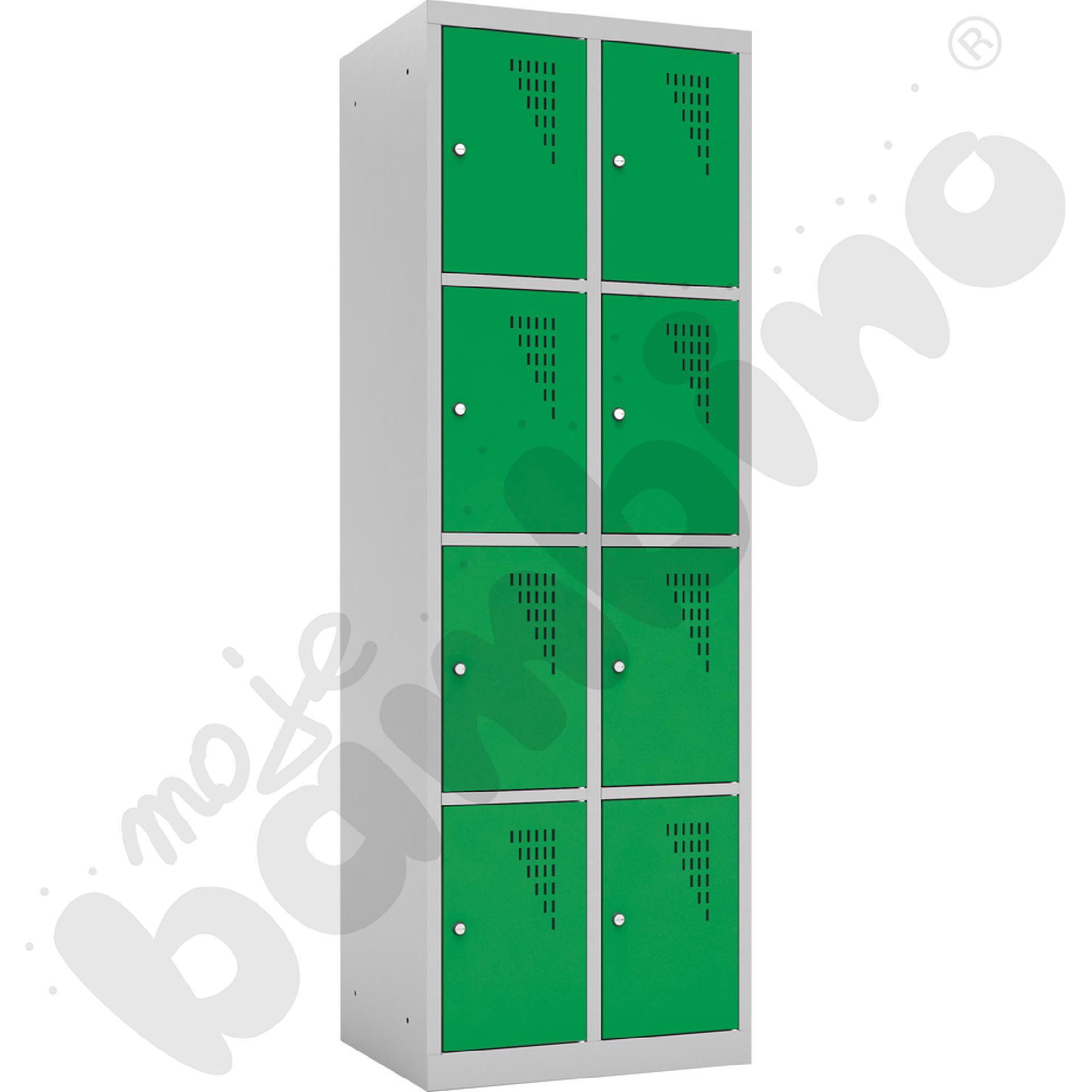 Szafka ubraniowa z 8 schowkami drzwi zielone