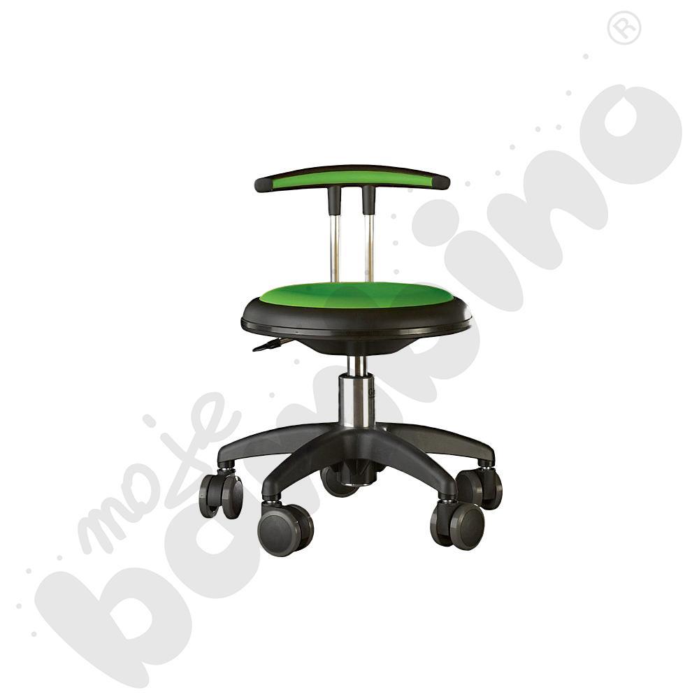 Krzesło Genito z oparciem, wys. 30-38 cm - limonkowe