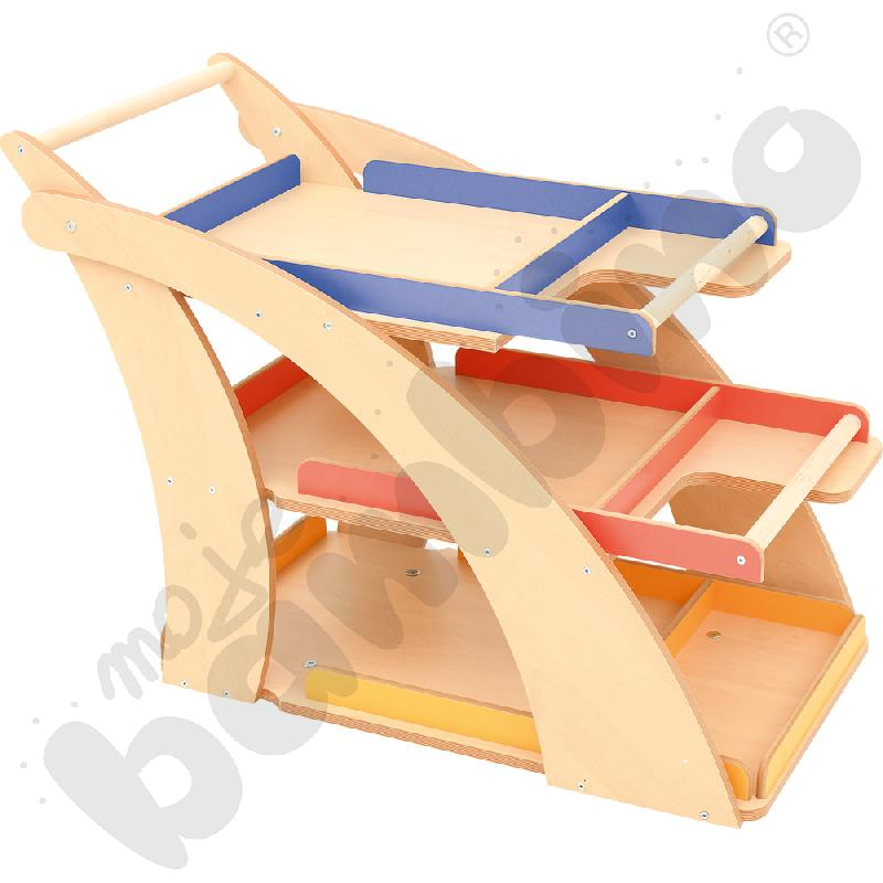 Wózek plastyczny na kółkach - brzoza