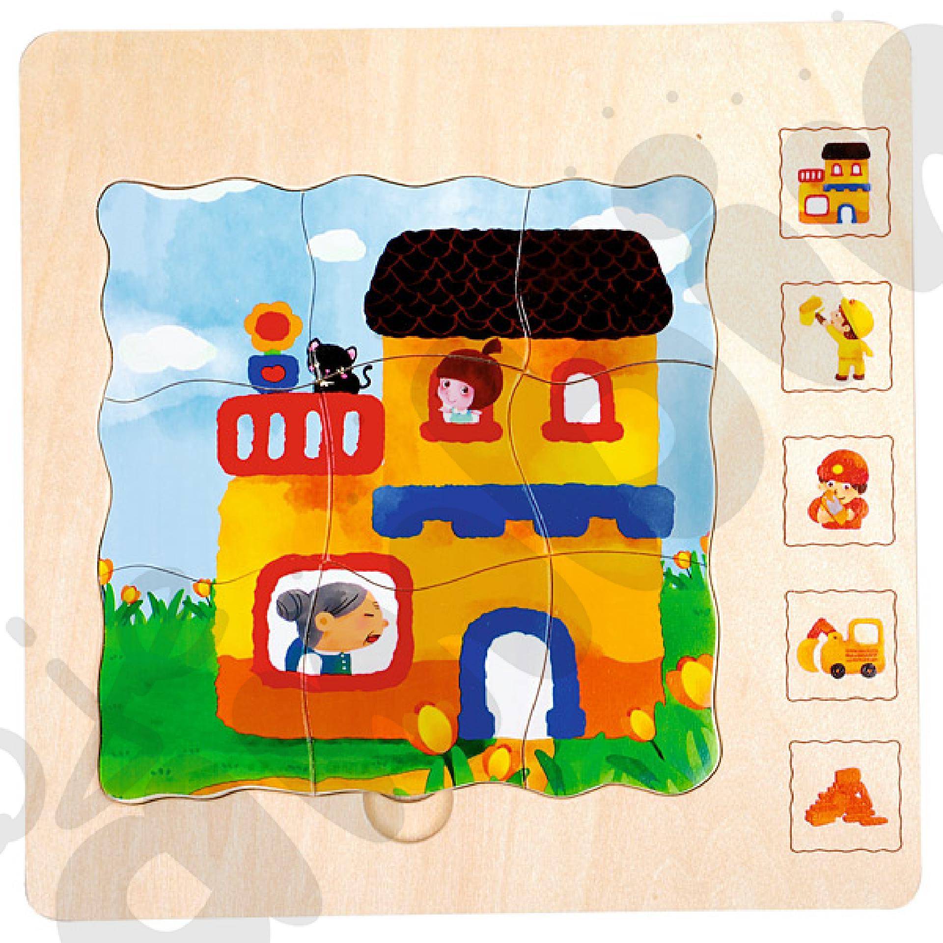 Puzzle 5-warstwowe dom