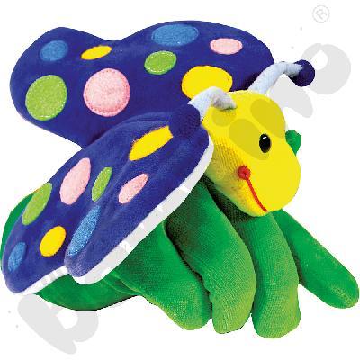 Rękawica pacynka - motylek