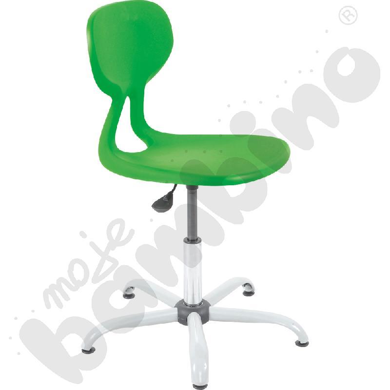 Krzesło Colores obrotowe z reg.  wys. zielone