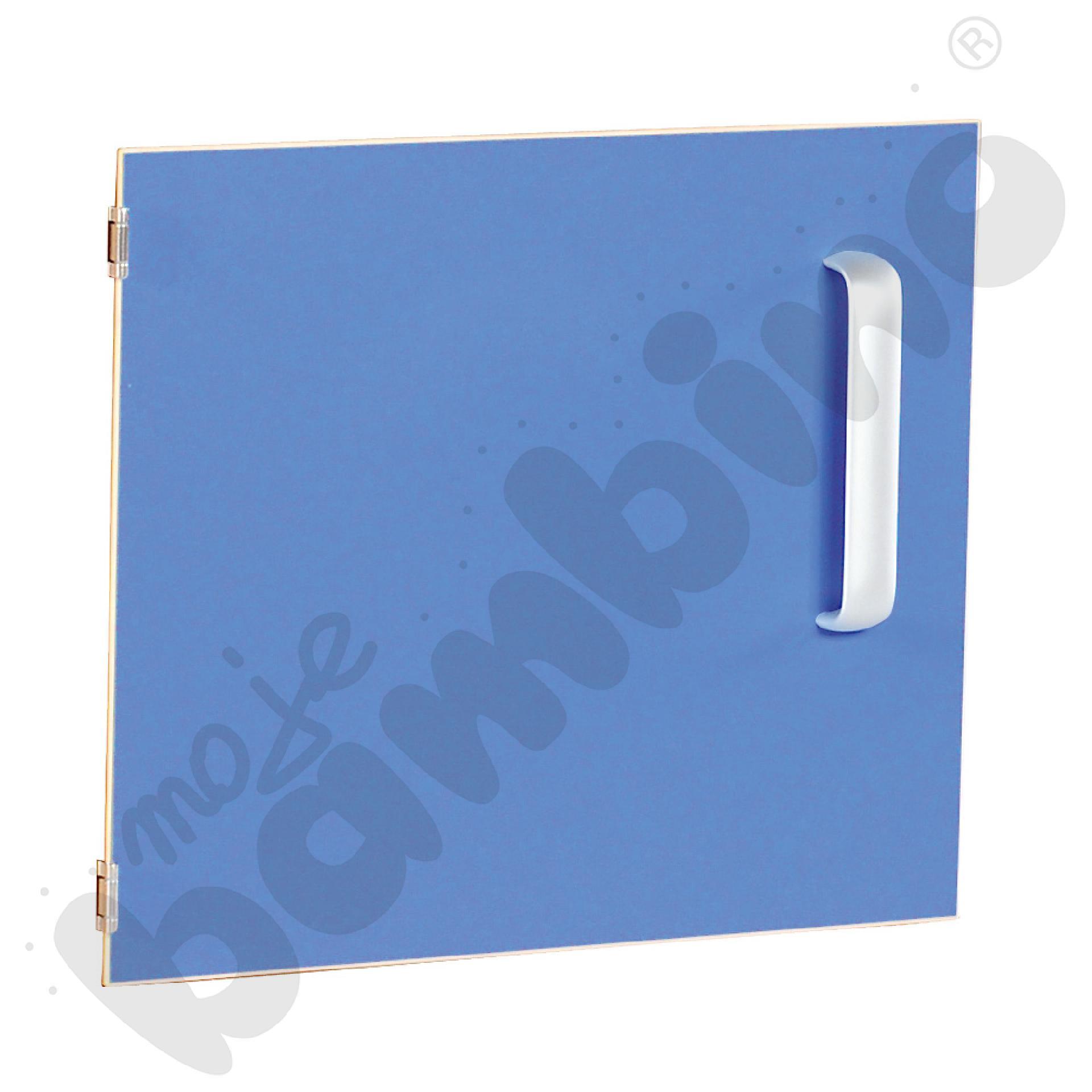 Drzwiczki do szafki M z przegrodą lewe - niebieskie
