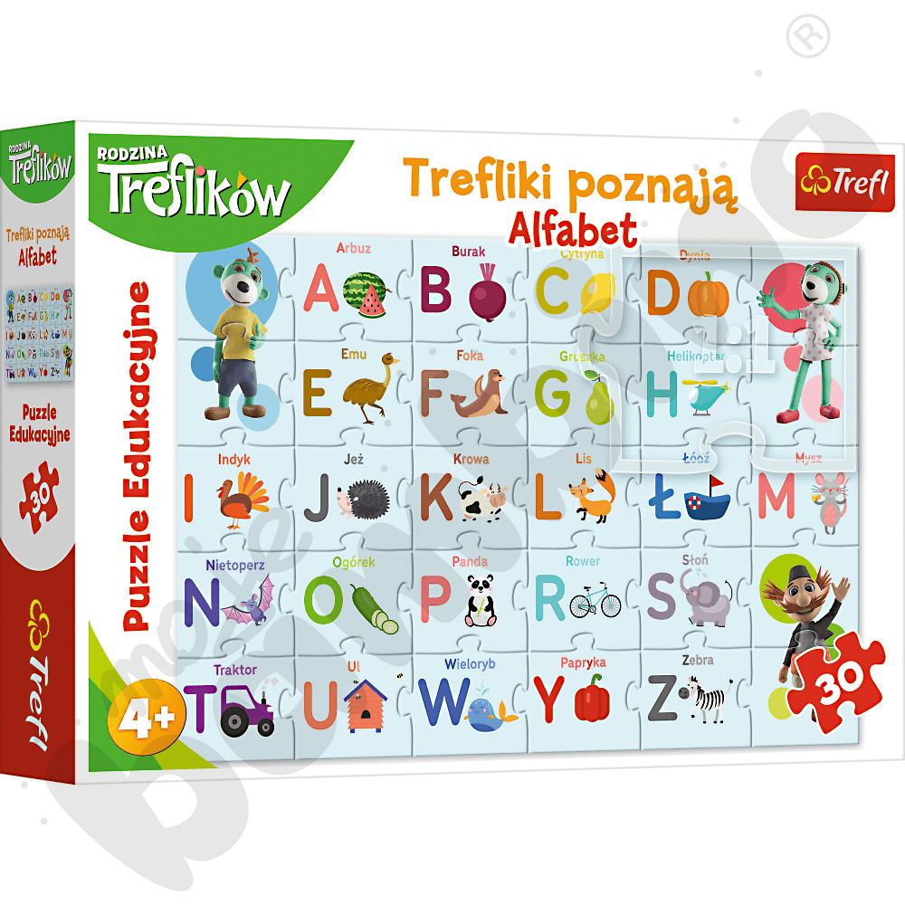 Trefliki poznają alfabet -...