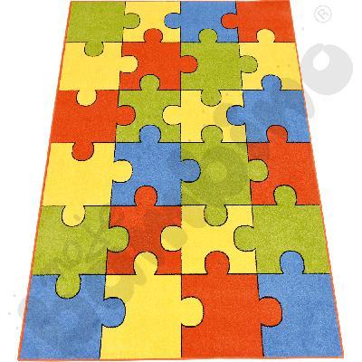 Dywan Puzzle terakota 2 x 3