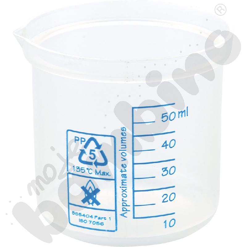 Zlewka niska plastikowa 50 ml