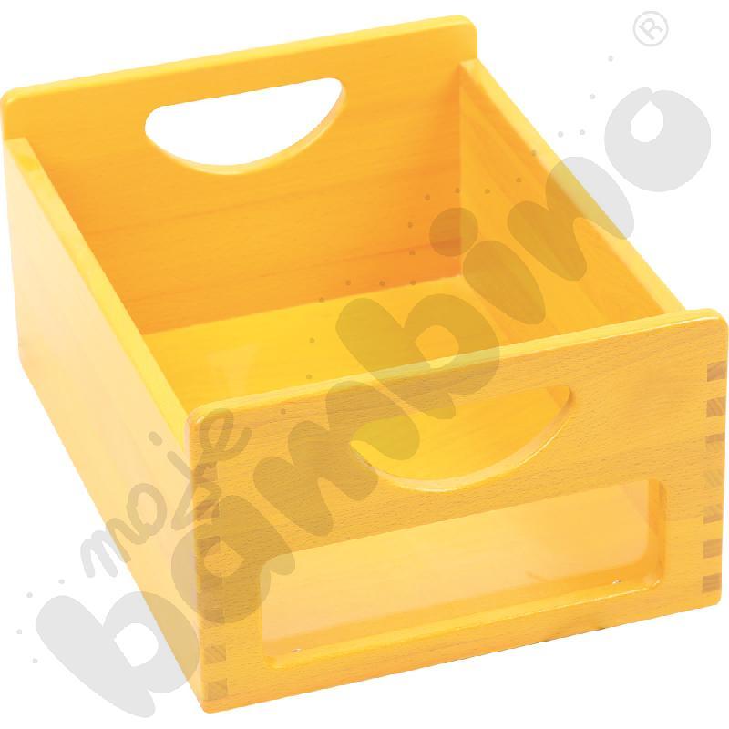 Pojemnik żółty z okienkiem