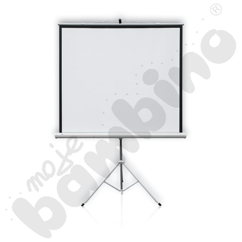 Ekran projekcyjny na statywie 175 x 175 cm