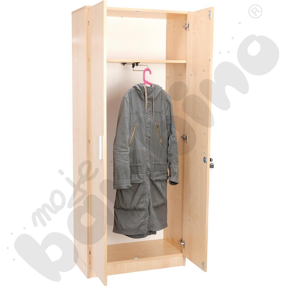Szafa ubraniowa z wieszakiem wysuwnym - klon