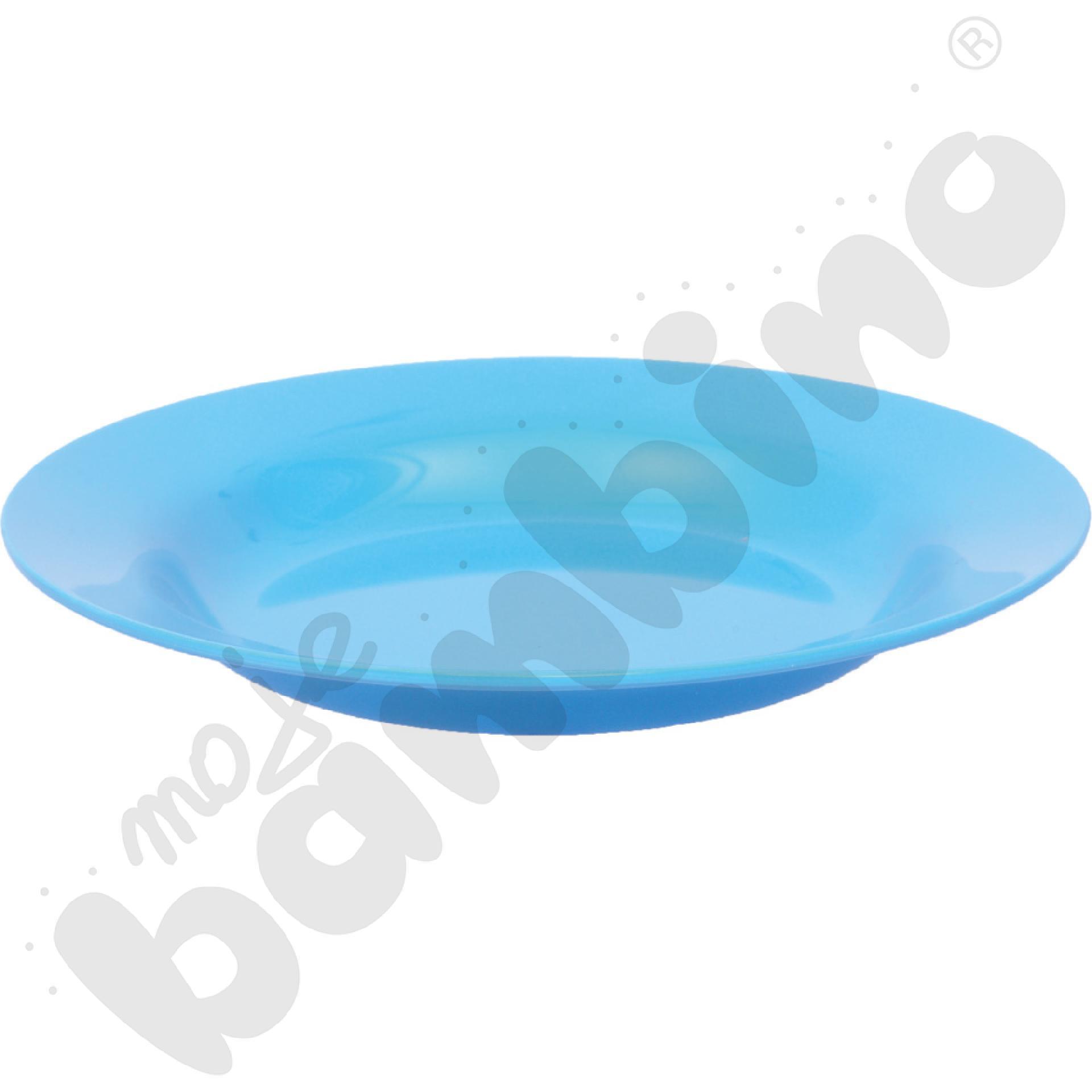 Głęboki talerz - niebieski