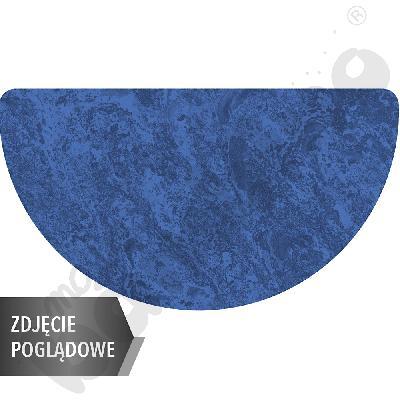 Cichy stół Plus półokrągły, 160 x 80 cm, rozm. 6 - niebieski