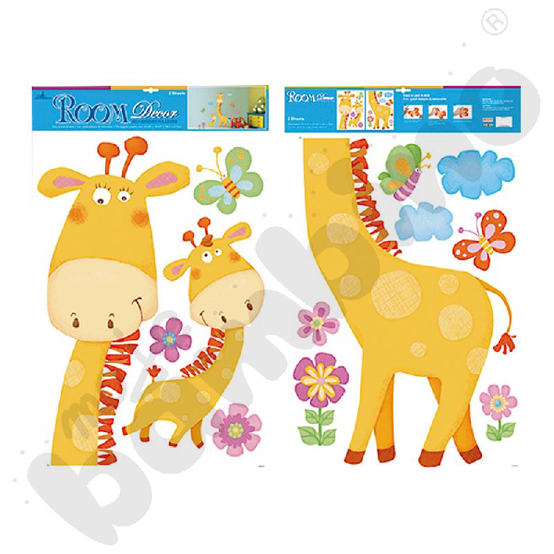 Naklejki na ścianę zwierzęta żyrafa