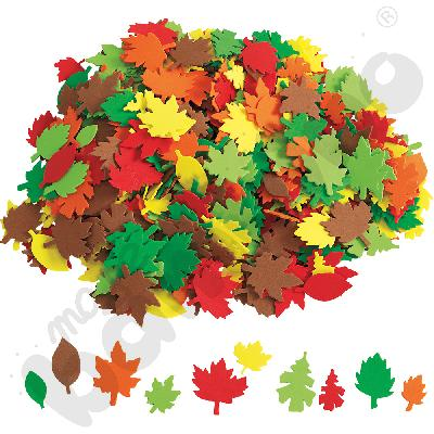 Jesienne liście - piankowe