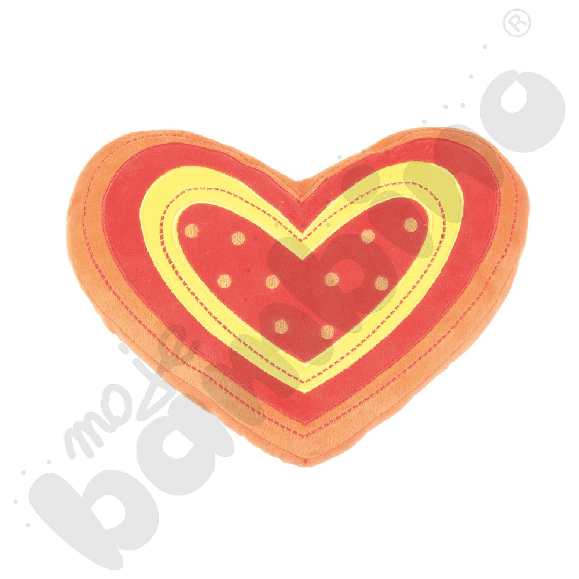 Poduszka FLAT serce czerwone