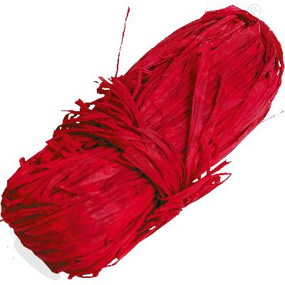 Rafia naturalna czerwona
