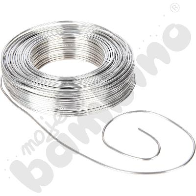 Drut aluminiowy srebrny, 50 m