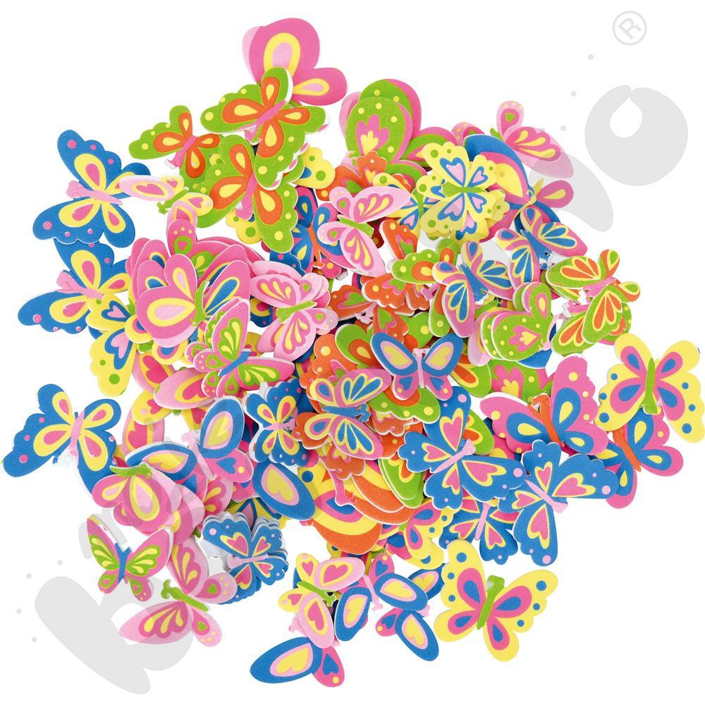 Piankowe naklejki - motylki