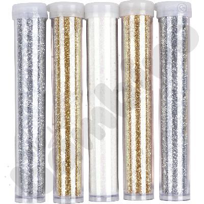 Zestaw brokatów srebrno-złoty