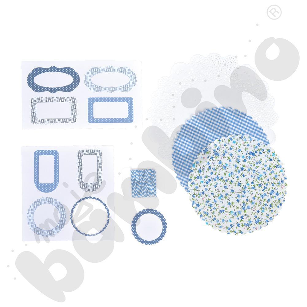 Ozdoby do słoików - niebieski kolor