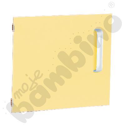 Drzwiczki do szafki M z przegrodą lewe - żółte