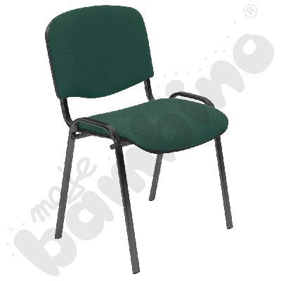 Krzesło konferencyjne ISO Black czarno - zielono - czarne
