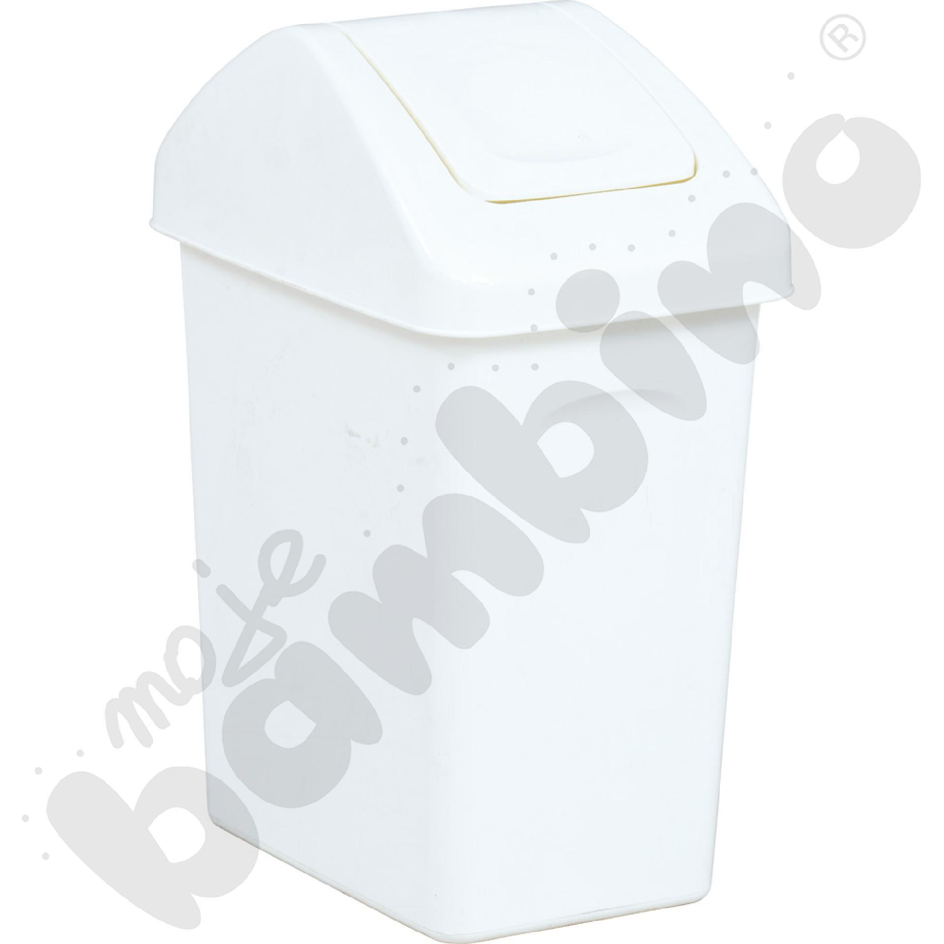 Kosz na śmieci 25 l - biały