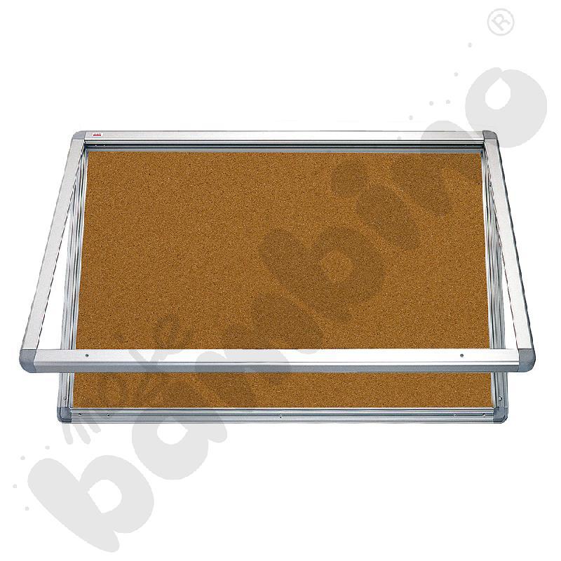 Gablota wewnętrzna otwierana do góry korkowa 150 x 100 cm