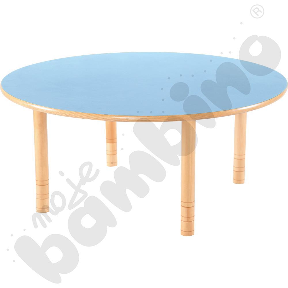 Stół Flexi okrągły- niebieski