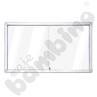 Gablota wewnętrzna suchościeralno-magnetyczna z przesuwnymi drzwiami 141 x 101 cm
