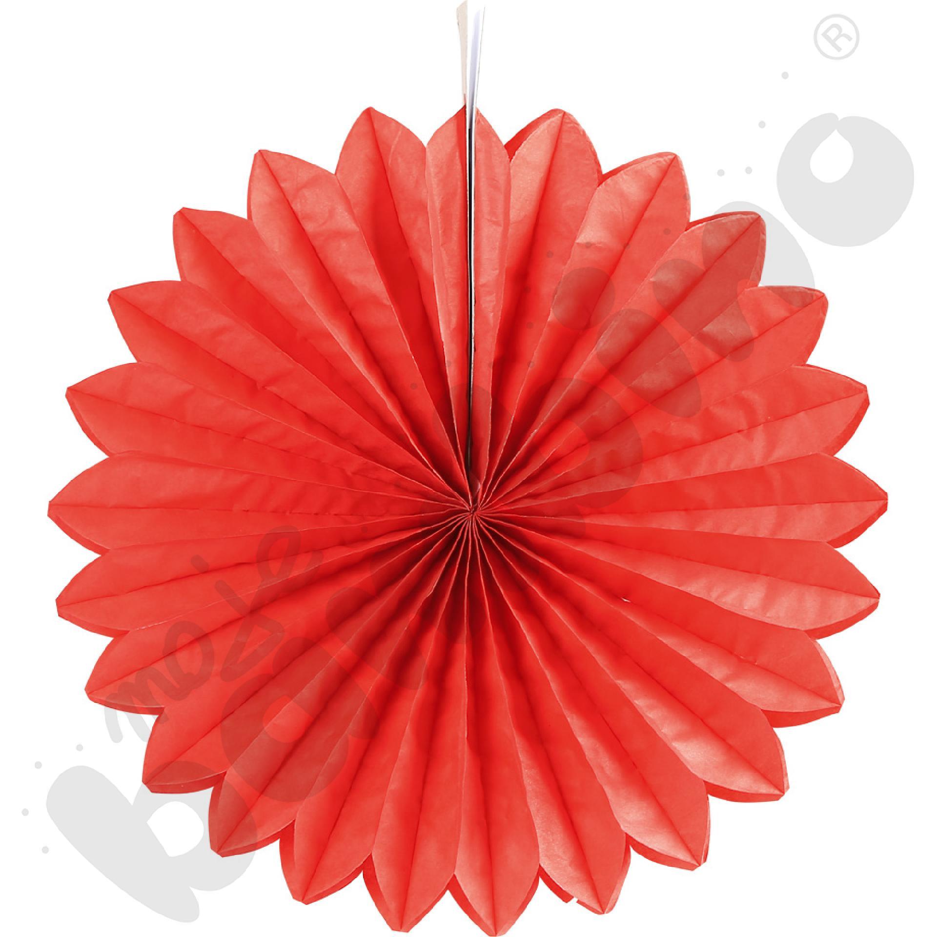 Papierowy wachlarz - czerwony
