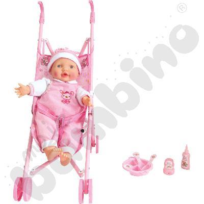 Lalka z wózkiem - zestaw