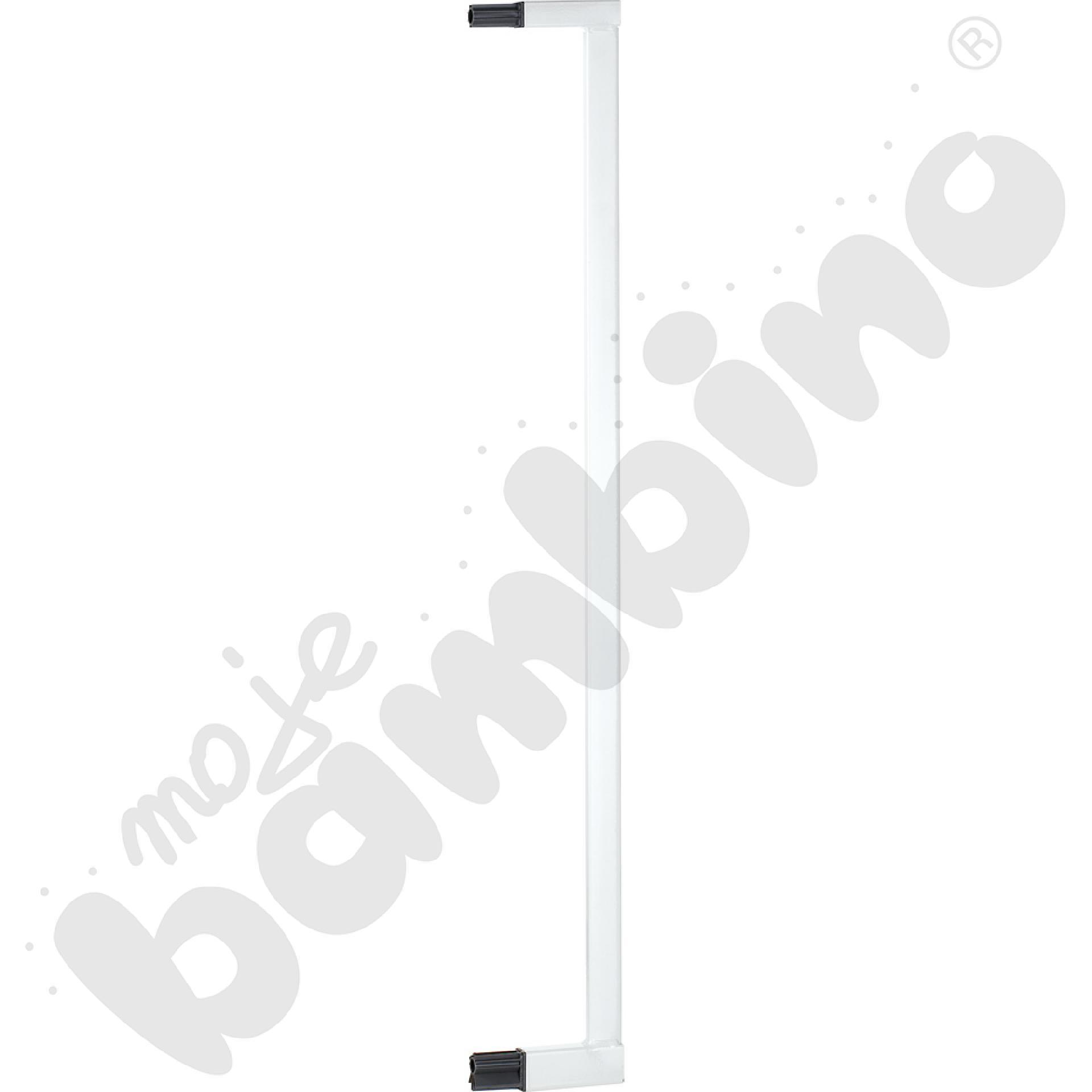 Przedłużka do  bramki, szer. 8 cm, biała