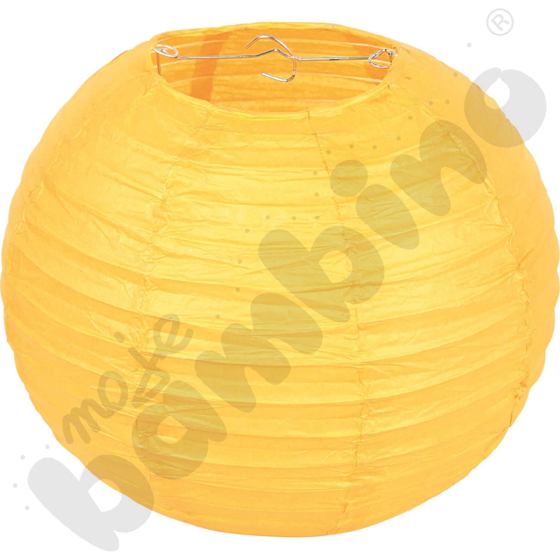 Papierowy lampion - żółty