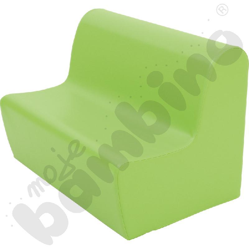 Duża kanapa jasnozielona