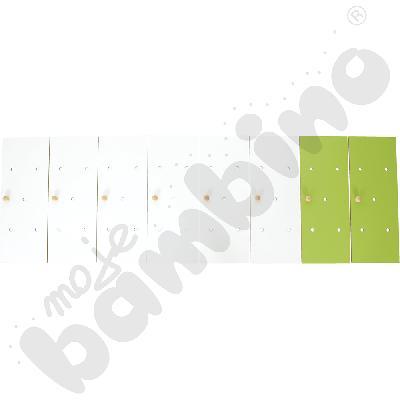 Drzwiczki do szatni tęczowej, biało-zielone, 8 szt.