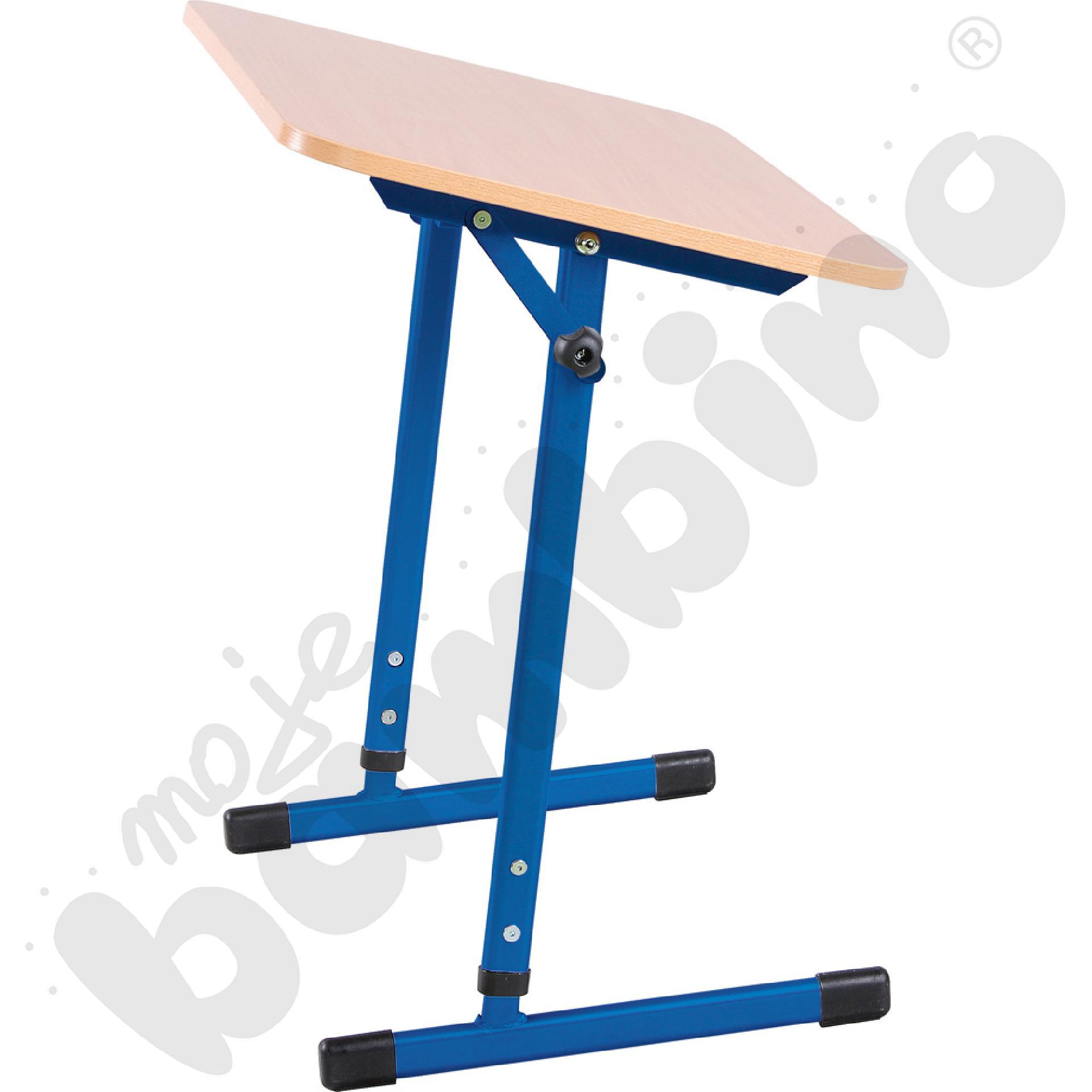 Stabilny stół pochylny 1-os. T 5-6 niebieski