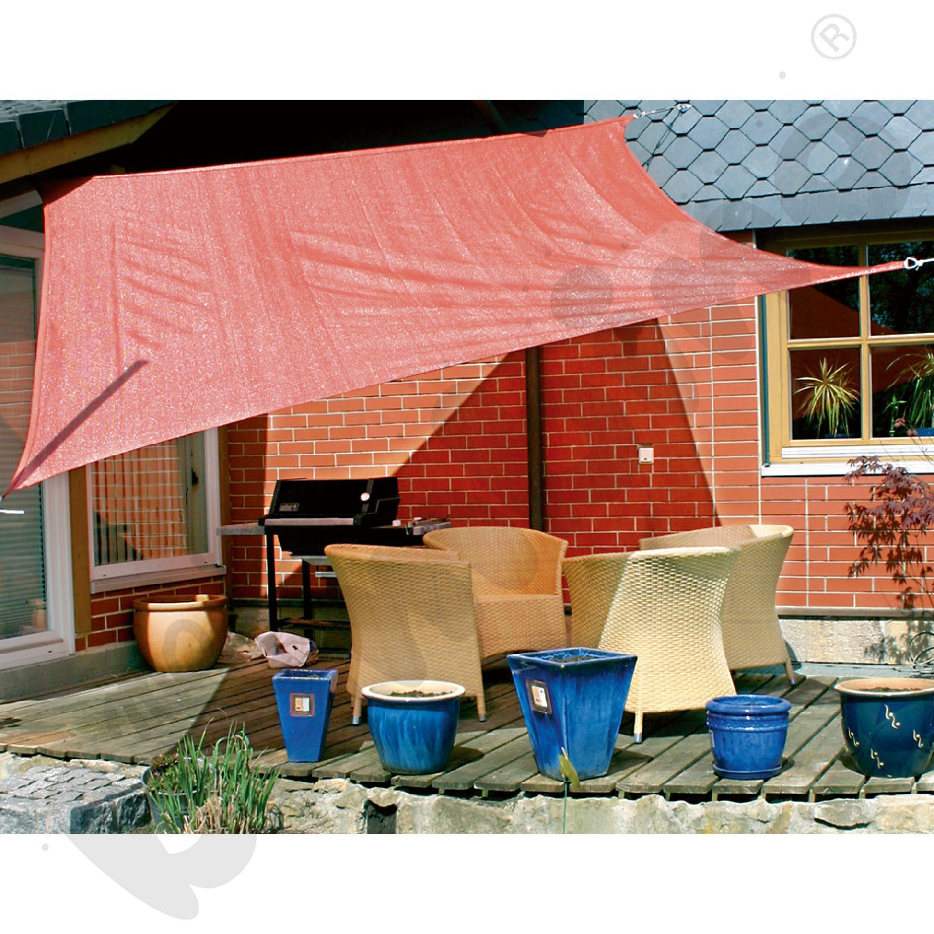 Materiałowy dach ochronny 4 x 6 m ceglasty