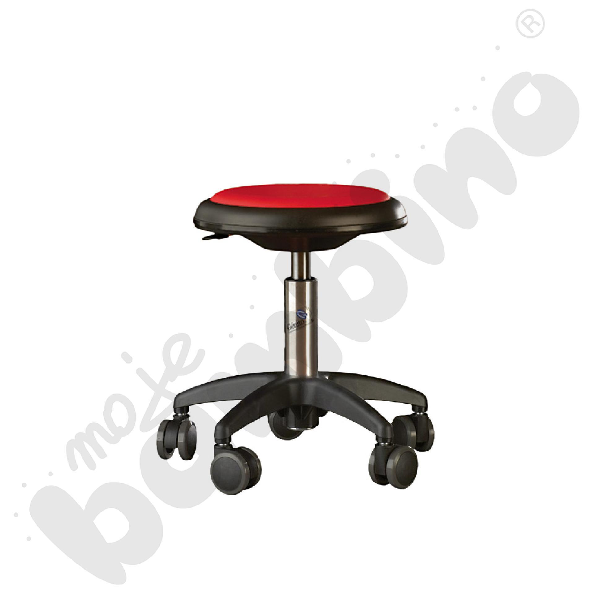 Krzesło Genito, wys. 38-48 cm - czerwone