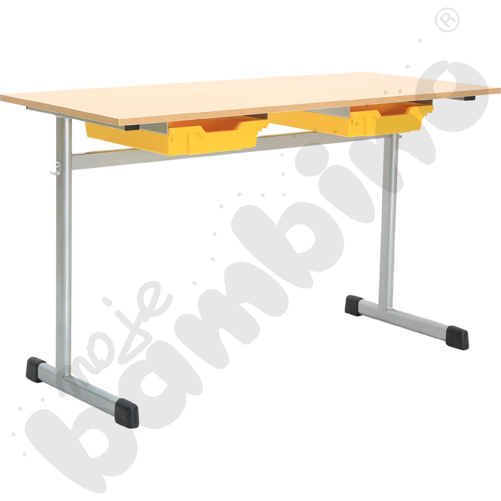 Stół na pojemnik 2-os. rozm. 4 srebrny