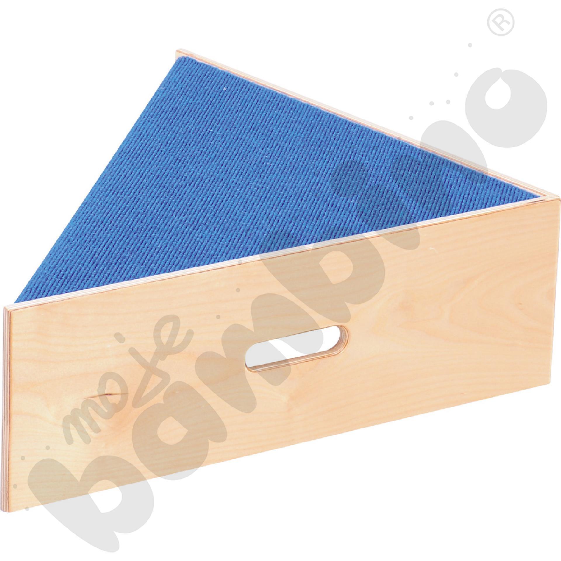 Podest trójkątny - wys. 20 cm niebieski
