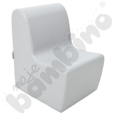 Duży fotelik szary