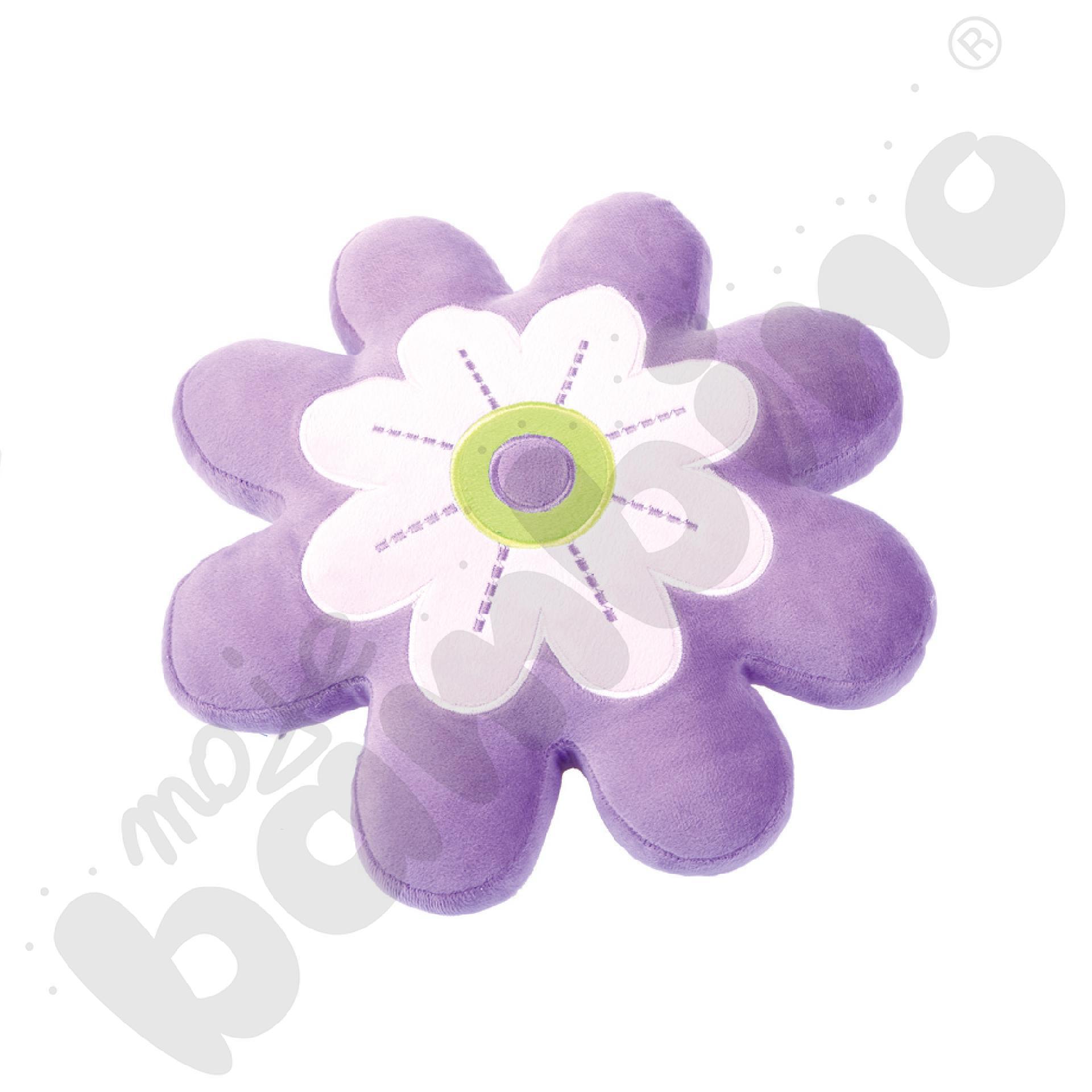 Poduszka FLAT kwiatek fioletowy