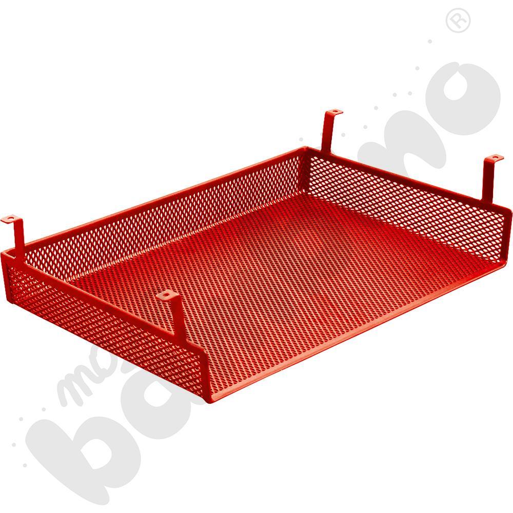 Półka metalowa do stołów, do zamocowania pod blatem - czerwona